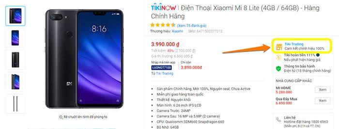 cách nhận biết sản phẩm Tiki Trading