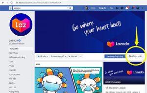 Chat facebook Lazada