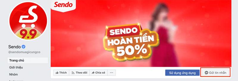 Chat Facebook Sendo